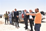 Dr. Maliki checks the operation of the Diplomatic Institute's construction project