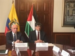 Foreign Minister Dr. Riad Malki Meets with His Ecuadorian Counterpart