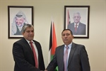 Ambassador Shamieh meets with the representative of the Democratic Socialist Republic of Sri Lanka for the State of Palestine