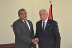 Dr. Malki meets with the head office of representative of the Democratic Socialist Republic of Sri Lanka in Palestine as he finishes his mission