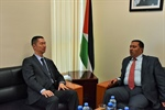 Ambassador Shamieh meets with the Chinese ambassador in the State of Palestine